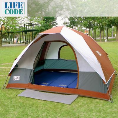 LIFECODE《立可搭》豪華5-6人雙層速搭帳篷-高183cm (咖啡色) LC637 (7折)