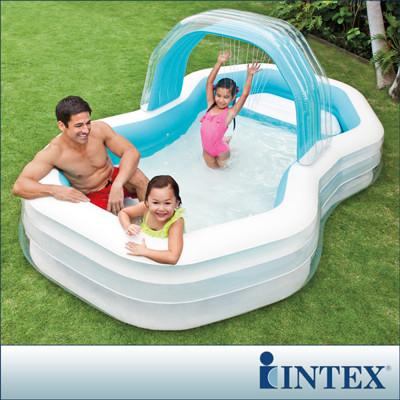 【INTEX】家庭戲水噴水小屋游泳池(310x188CM)(700L) LC163(57198) (7折)