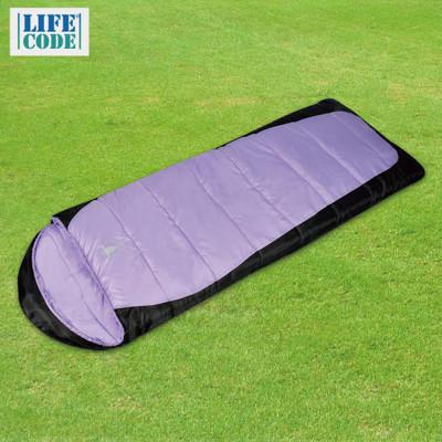 【APC】秋冬加長加寬可拼接全開式睡袋(雙層七孔棉)-紫黑色/藍黑色 SGS檢驗合格 LC530 (3.5折)
