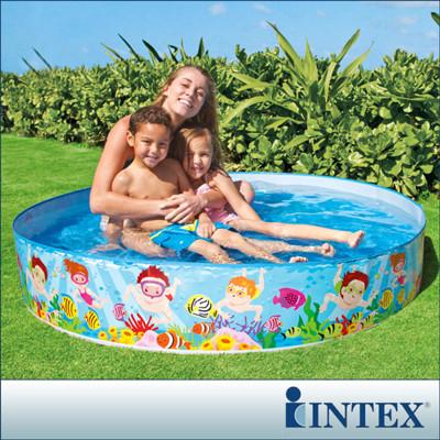 【INTEX】免充氣幼童戲水游泳池 (直徑152cm) LC278(56451) (7折)