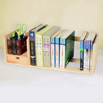 【LIFECODE】極簡風-松木桌上型書架(單抽屜) LC114C (7.2折)