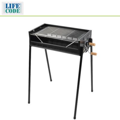 【LIFECODE】立式烤肉架-烤網可調高度-寬65cm - LC633 (6折)