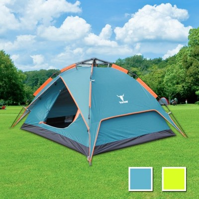 PEKYNEW《立可搭》3-4人抗紫外線雙層速搭帳篷-彈簧款(二用帳篷)-2色可選 LC677 (7折)