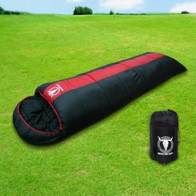 【APC】秋冬可拼接全開式睡袋(雙層七孔棉)-紅黑雙色 LC520 (3.7折)