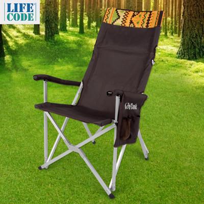 LIFECODE《瑪雅》豪華加高大川椅-椅背可折收(附雙面文件袋)-咖啡/綠色 LC599N (3.5折)
