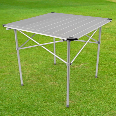 【LIFECODE】鋁合金蛋捲桌/折疊桌-加大款80x80cm-附收納袋 LC550 (8折)