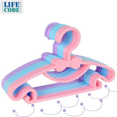 【LIFECODE】小啾啾蝴蝶結兒童衣架 - 3色隨機出貨 LC673 (0.2折)