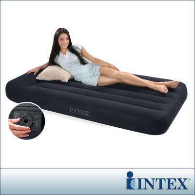 【INTEX】舒適型內建電動幫浦充氣床墊-單人加大-寬99cm-有頭枕 LC261(66775) (7折)