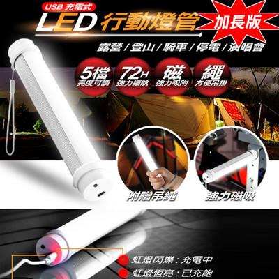 第一代超亮磁吸LED行動燈管手電筒-加長版 (2.1折)