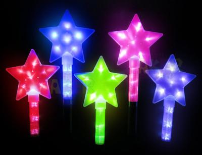 LED 五角星 閃亮棒 螢光棒 魔法棒 仙女棒 (星星) (4折)