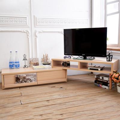 日式風格旋轉伸縮多功能L型電視櫃/視聽櫃 TV004 (6折)