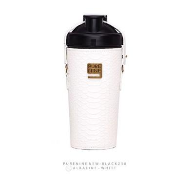 韓國PURENINE BOTTLE時尚鹼性水生成水壺(二代黑內瓶)-天使白皮套 (4.4折)
