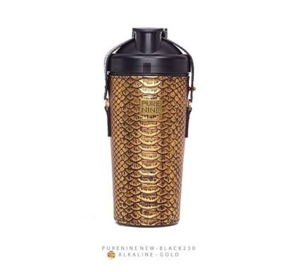 韓國PURENINE BOTTLE時尚鹼性水生成水壺(二代黑內瓶)-奢華金皮套 (5.2折)