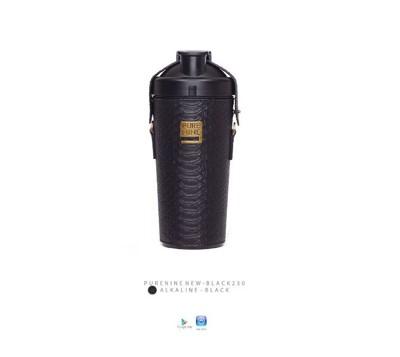 韓國PURENINE BOTTLE時尚鹼性水生成水壺(二代黑內瓶)-神秘黑皮套 (4.4折)