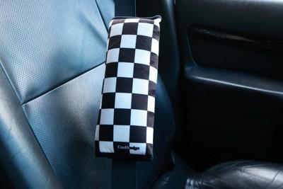 格紋賽車風安全帶護套 (2.2折)