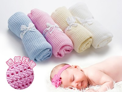 寶寶棉質洞洞毯(75X100cm) (1.6折)
