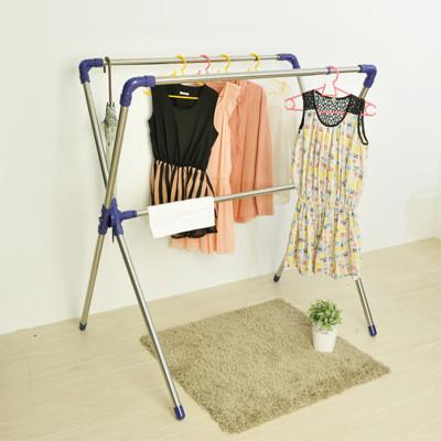 【ikloo】X型不銹鋼延伸曬衣架 (3.1折)