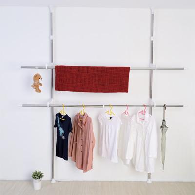 【ikloo】頂天立地可調式不鏽鋼曬衣架 (3.7折)