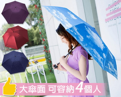 反向自動開收折疊晴雨傘 (3.1折)