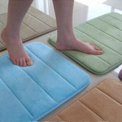 加厚珊瑚絨吸水記憶回彈地毯 防滑墊 浴室墊 0.4X0.6M (5.2折)