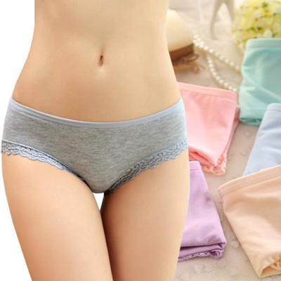 莫代爾舒適柔軟蕾絲花邊內褲(均碼) (3.2折)