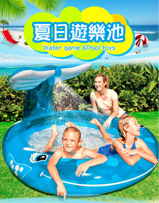 INTEX-208公分抹香鯨噴水戲水池 (3.8折)