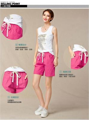 【LANNI藍尼】清新風棉麻鬆緊舒適短褲  夏日來臨,快來換上清新風格的五分褲吧! (2.7折)