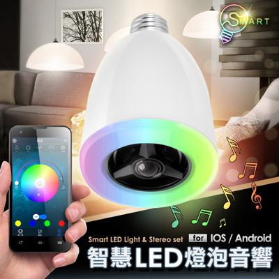 【手機搖控音響 燈光】智能音響燈泡 情境燈 (5折)