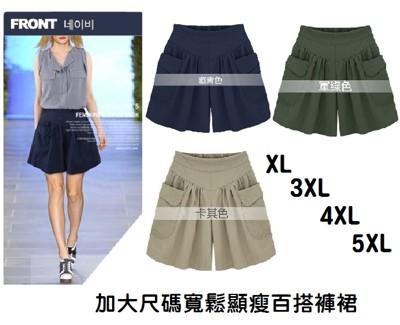 加大尺碼寬鬆顯瘦百搭褲裙 (2.8折)