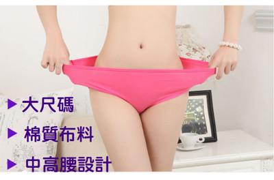 大尺碼素面純棉內褲 (2.4折)