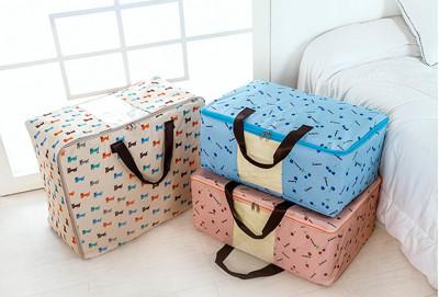 童趣繽紛600D日式防潑水雙拉鍊視窗收納袋 (2.8折)