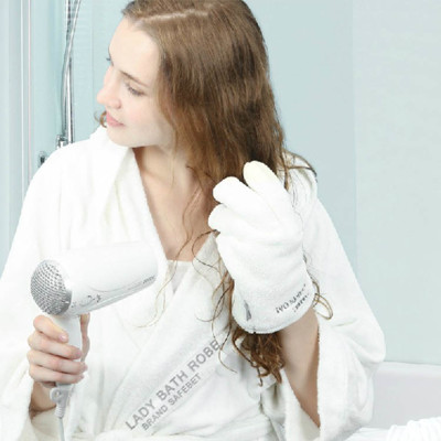 創意吸水乾髮手套 (1.8折)