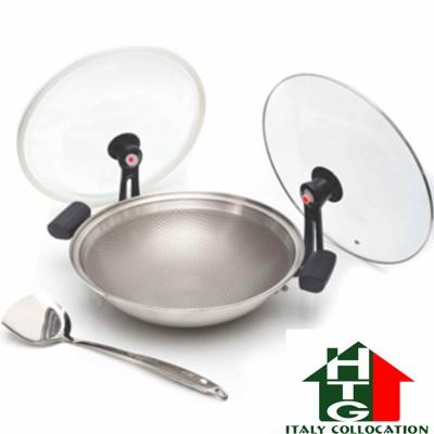 【固鋼 HTG】專利節能雙蓋氣密不鏽鋼不沾鍋32cm(可關火再煮) (5折)
