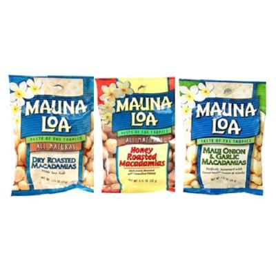 美國【MAUNA LOA-夢露萊娜】夏威夷豆隨手包裝等組合,多種口味可選 (5.5折)