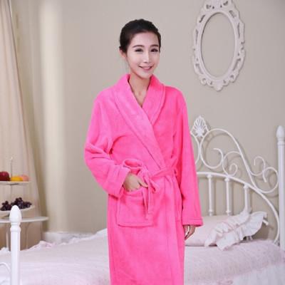 韓款保暖舒適珊瑚絨睡袍浴袍 (3.3折)