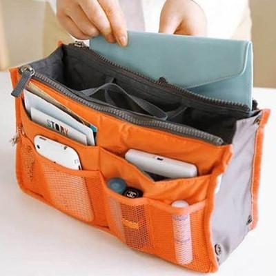雙拉鍊包中號 13色BAG IN BAG 雙層超大 加厚手提式收納包 (1.8折)