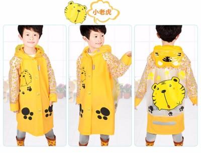 卡通帽緣充氣可背書包兒童雨衣 (6折)