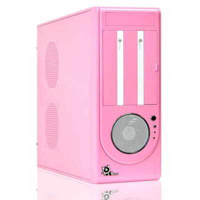 【YAMA】小天堂 2大3小 粉紅色電腦小機殼 (8.4折)