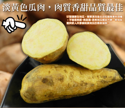 台灣農產57號-蜜糖甜生地瓜〈10台斤/20台斤/30台斤/40台斤〉 (4.3折)