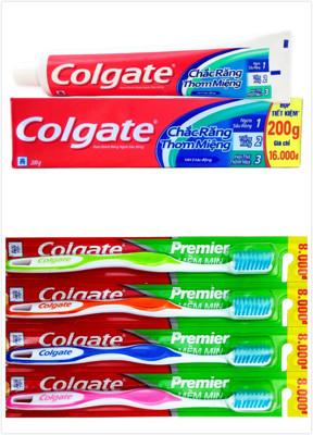 【Colgate 高露潔】三效合一牙膏(200g)+【Colgate 高露潔】Premier牙刷 (7.9折)