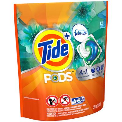 【美國 Tide】新一代四合一洗衣凝膠球+Febreze(353g/12顆-滾筒式可用) (7.8折)