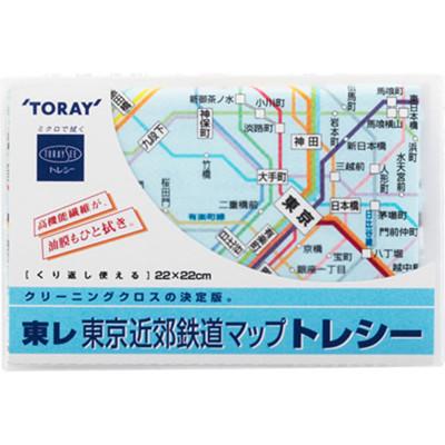 日本原裝進口TORAY東麗眼鏡布/手機螢幕/鏡頭擦拭布-東京地鐵圖 (5折)