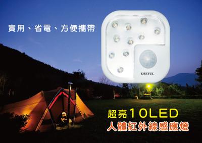 超亮10LED人體紅外線感應燈 (4折)