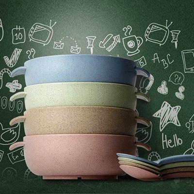 兒童小麥環保餐具二件組 (1.1折)