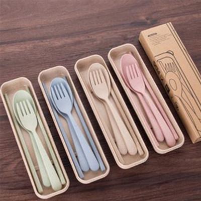 愛地球!環保小麥桔桿餐具組 (3折)
