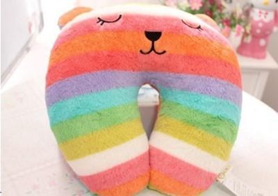 彩虹兔兔U型枕 靠枕 抱枕 (6.2折)
