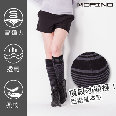 MORINO MIT條紋膝上襪 (3.2折)