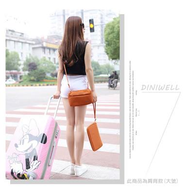 【 DINIWELL】韓版 DINIWELL 升級版大容量多功能手拿/單肩斜背包 防水長版證件護照包 (6.6折)
