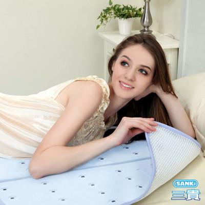日本Sanki 低反發散熱加強冰涼床墊組-1床墊+1枕墊 (6.7折)