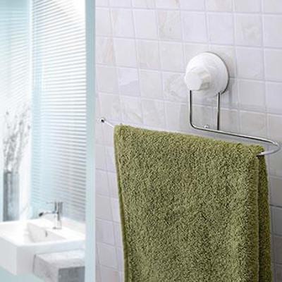 多功能 強力吸盤衛浴兩用U型金屬毛巾架 (3.1折)